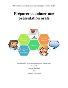Préparer et animer une présentation orale