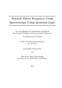 Towards direct frequency comb spectroscopy using quantum logic [Elektronische Ressource] / Börge Hemmerling