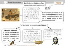 Pluridisciplinaire – Lectures documentaires CP/CE1 - Anne Claire instruments de musique lect doc orpheecole