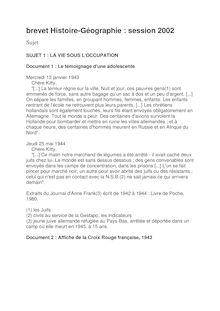 Brevet 2002 histoire geographie