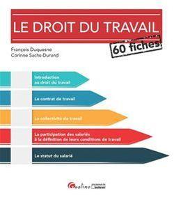 Le droit du travail en 60 fiches - François Duquesne, Corinne Sachs-Durand