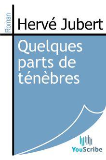 Quelques parts de ténèbres de Hervé Jubert - fiche descriptive