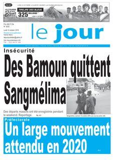 Le Jour Cameroun du 14-10-2019