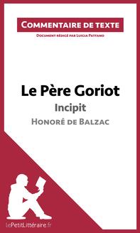 Le Père Goriot de Balzac - Incipit
