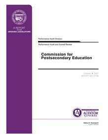 Commission for Postsecondary Education Performance Audit