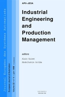 Industrial engineering and production management (JESA VOLUME 32 N°4 juin 1998