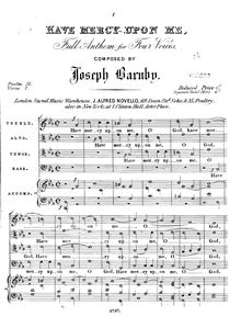 Partition Vocal score, Have mercy upon me, Barnby, Joseph
