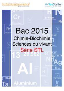 Corrigé - Bac 2015 - Chimie biochimie sciences du vivant - STL