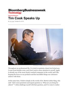 Tim Cook fait son coming-out !