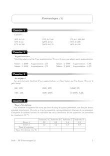 Accompagnement personnalisé, Probabilités Pourcentages (1)