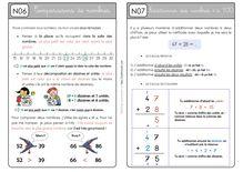 Mathématiques CE1 – Organisation des séances, exercices et leçons : Périodes 1 et 2 - Unité 4 Leçons
