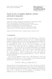 Germs of arcs on singular algebraic varieties and motivic integration