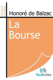 La Bourse de Honoré de Balzac - fiche descriptive
