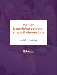 Describing objects - shape & dimensions