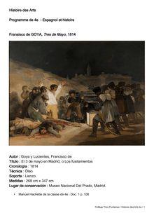 Histoire des Arts Programme de 4e