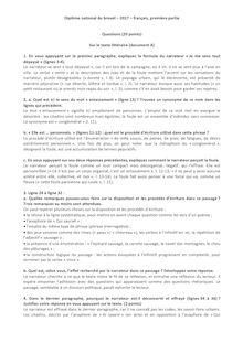 Brevet - 2017 - Corrigé - français - partie I