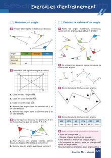 Chapitre M1 6ème : Angles - Exercices d'entraînement