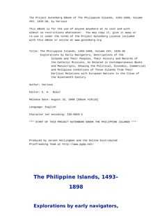 The Philippine Islands, 1493-1898 — Volume 25 of 55 - 1635-36 - Explorations by Early Navigators, Descriptions of the Islands and Their Peoples, Their History and Records of the Catholic Missions, As Related in Contemporaneous Books and Manuscripts, Showing the Political, Economic, Commercial and Religious Conditions of Those Islands from Their Earliest Relations with European Nations to the Close of the Nineteenth Century