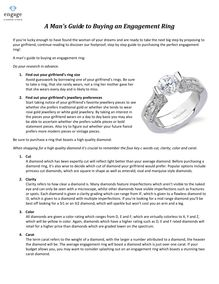 A Man's Guide to Buying an Engagement Ring