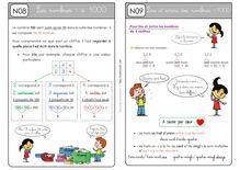 Mathématiques CE1 – Organisation des séances, exercices et leçons : Périodes 1 et 2 - Unité 5 Leçons