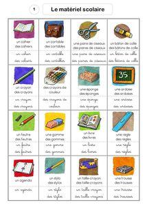 Vocabulaire CP/CE1 – Banque outil de mots illlustrés