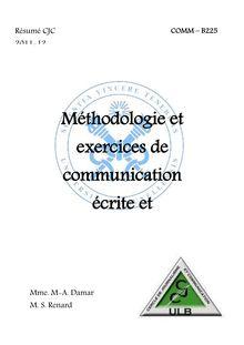 Méthodologie et exercices de communication écrite et ...