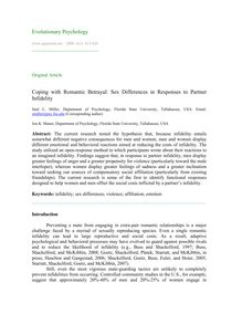 Coping with romantic betrayal: Sex differences in responses to partner infidelity