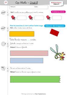 Mathématiques CP / CE1 – Cap Maths, période 3 (unités 7 et 8) - Unité 8 – CP Unité 8 Exercices