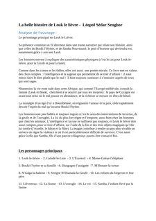 La belle histoire de Leuk le lièvre - Léopol Sédar Senghor - helene benoit