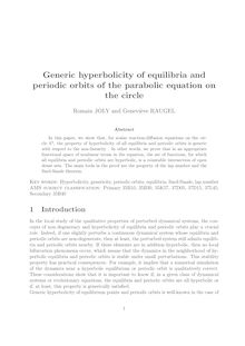 Generic hyperbolicity of equilibria and periodic orbits of the parabolic equation on