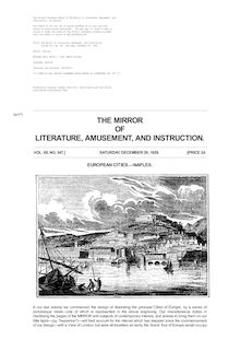 The Mirror of Literature, Amusement, and Instruction - Volume 12, No. 347, December 20, 1828