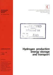 Hydrogen production, energy storage and transport