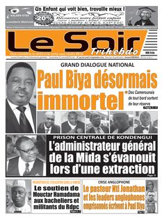 Le Soir Cameroun du 16-09-2019