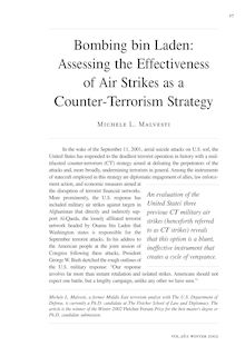 Bombing bin Laden: Assessing the Effectiveness of Air Strikes as a ...