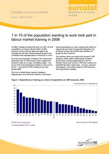 1 in 10 of the population wanting to work took part in labour market training in 2006