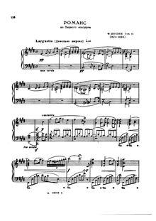 Partition complète, Romance par Frédéric Chopin