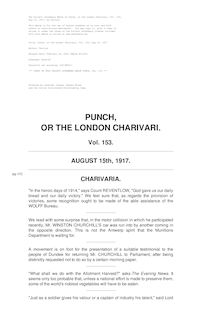 Punch, or the London Charivari, Volume 153, August 15, 1917
