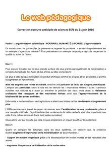 Baccalauréat Sciences 2016 - Séries L et ES  (Corrigé)