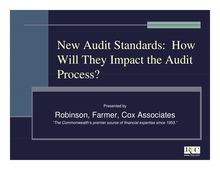 New Audit Standards [Compatibility Mode]