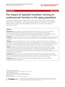 The impact of repeated marathon running on cardiovascular function in the aging population