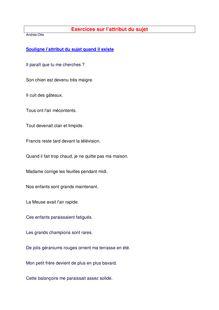 Exercices sur l'attribut du sujet - cours de français 5ème