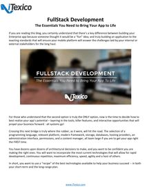 FullStack Development The Essentials You Need to Bring Your App to Life