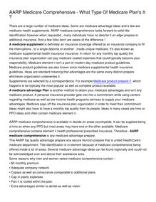 AARP Medicare Comprehensive - What Type Of Medicare Plan