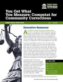 You Get What You Measure: Compstat for Community Corrections