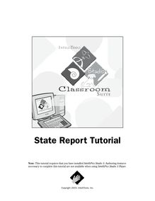 State Report Tutorial