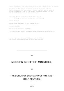 The Modern Scottish Minstrel, Volumes I-VI. - The Songs of Scotland of the Past Half Century