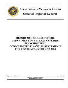 Report of the Audit of the Department of Veterans Affairs