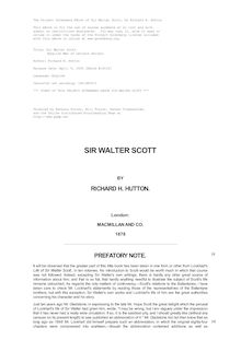 Sir Walter Scott - (English Men of Letters Series)
