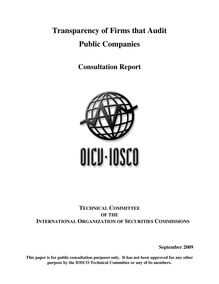 Transparency of Firms that Audit Public Companies