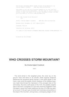 Who Crosses Storm Mountain? - 1911